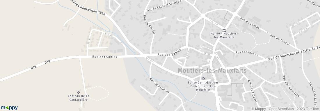 Gendarmerie Nationale Moutiers les Mauxfaits (adresse)
