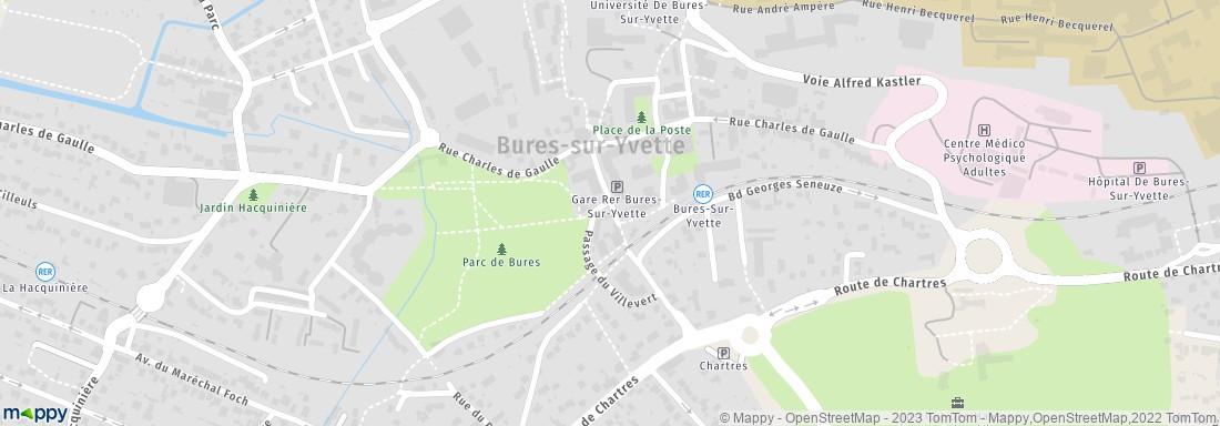 Mairie bures sur yvette adresse for Plan bures sur yvette