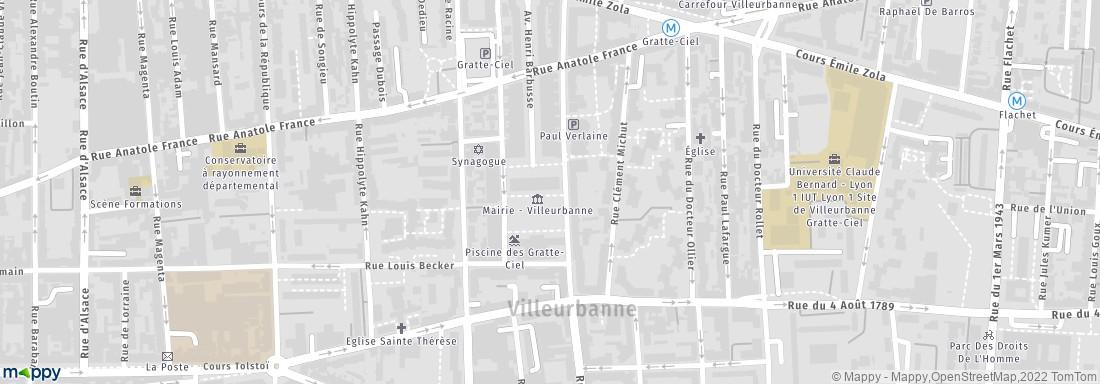 Mairie Villeurbanne Adresse Horaires Avis