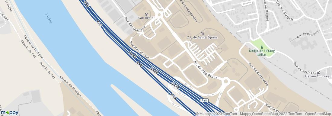 agrandir la carte - Point Mariage St Egreve