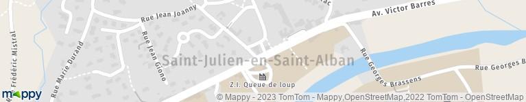 La Poste Saint Julien en Saint Alban - Livraison de colis