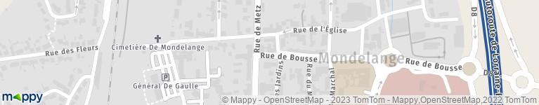 Carte Cora Mondelange.Centre Commercial Cora Mondelange 1 R Bousse 57300